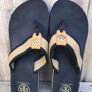 Tory Burch Women's size 10 Navy Blue sandal